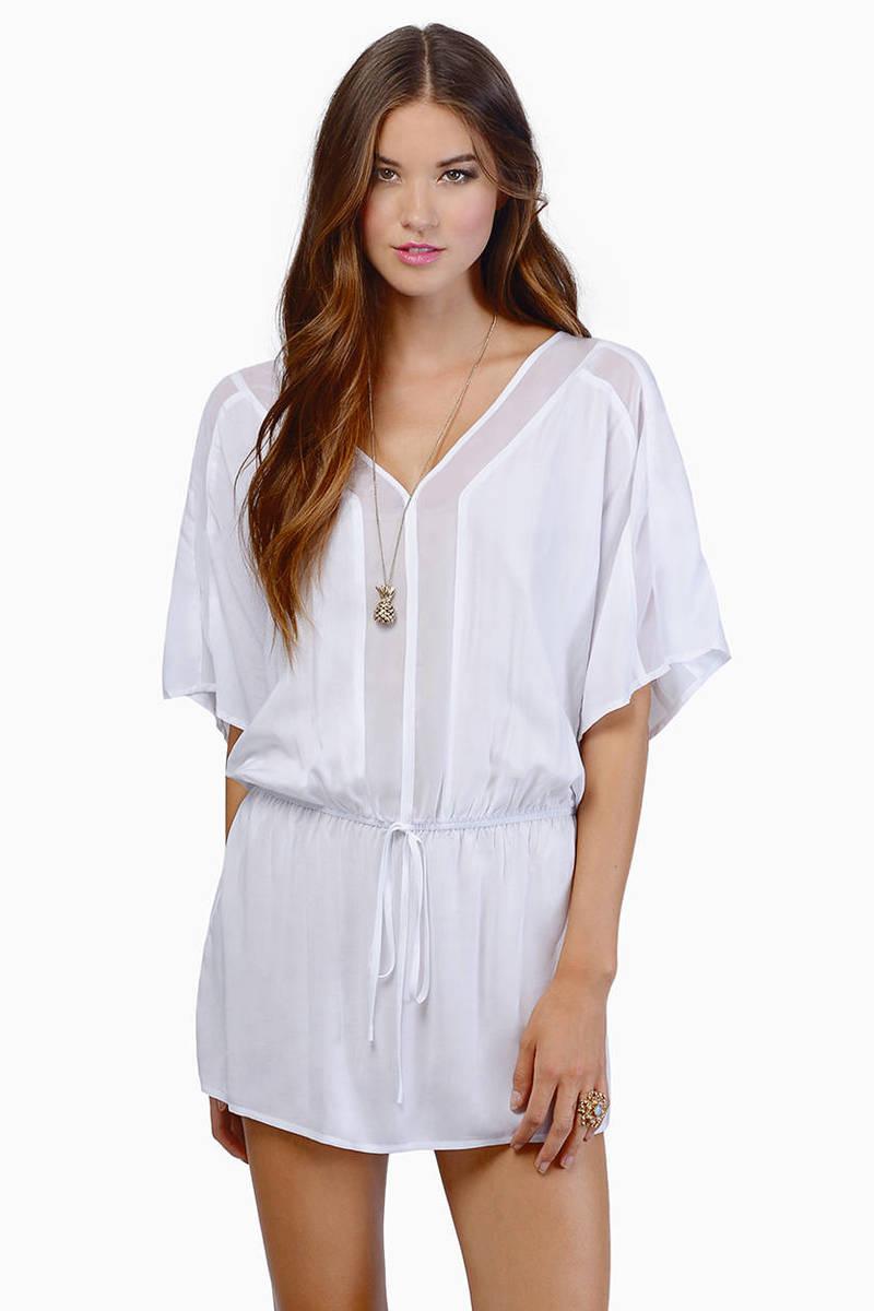 Around About White Shift Dress