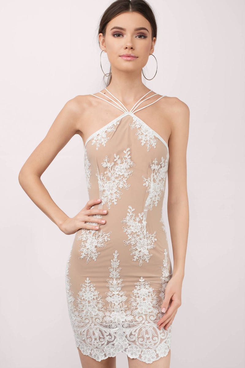 Winona Winona Belle White Lace Bodycon Dress