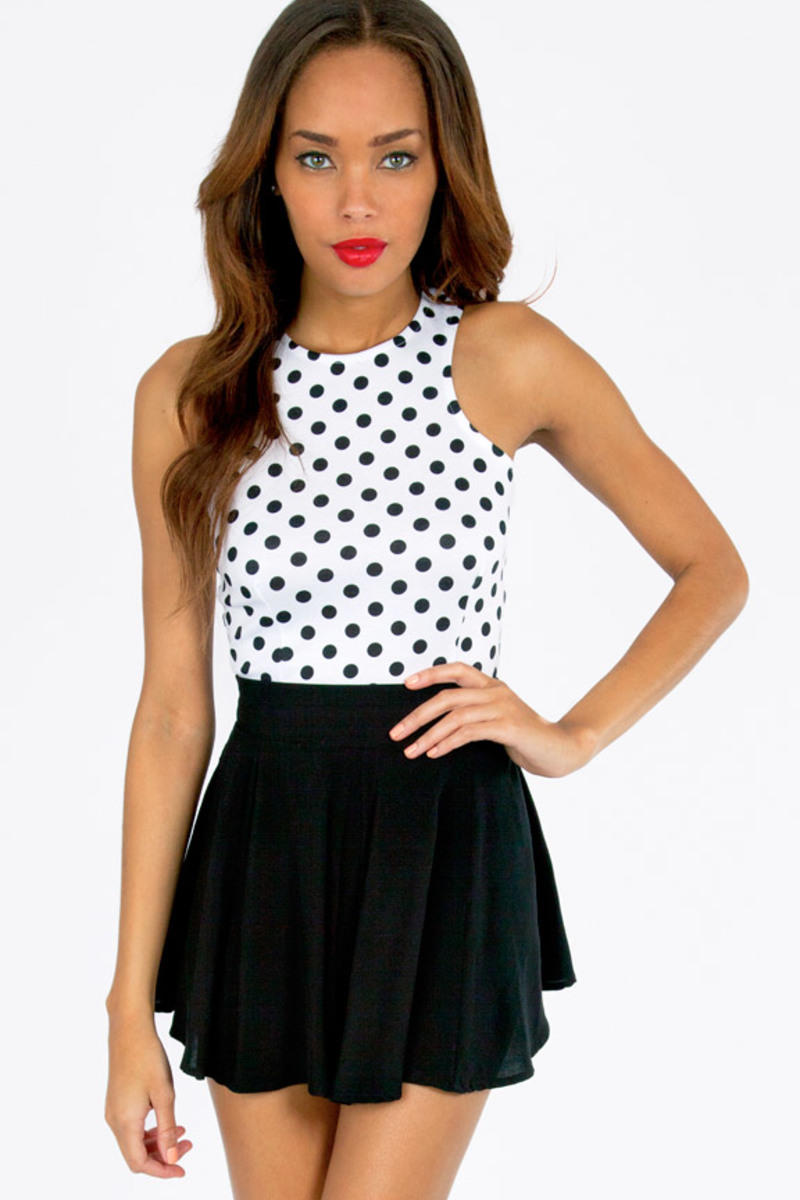 Circle Circle Dot Dot Crop Top