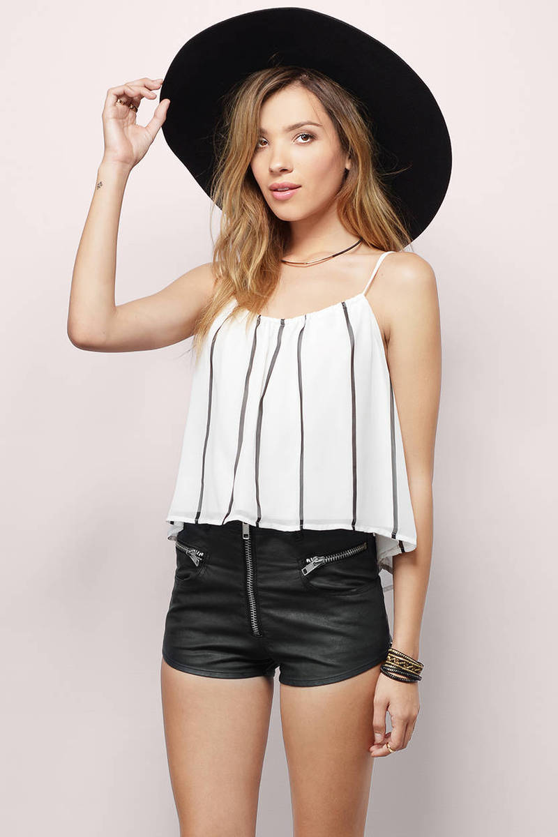 Summer Sunsets White & Black Tank Top