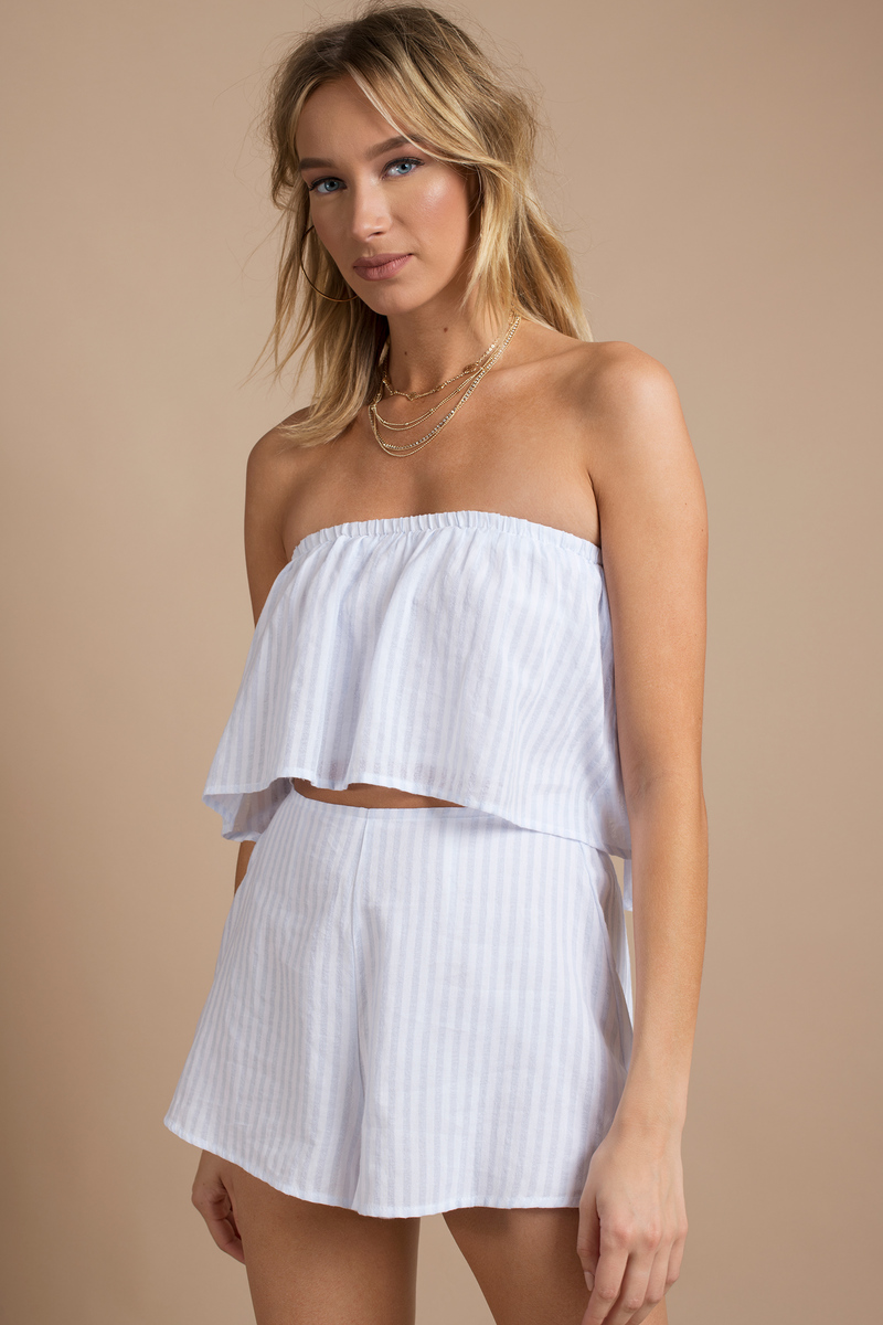 Strapless Rompers
