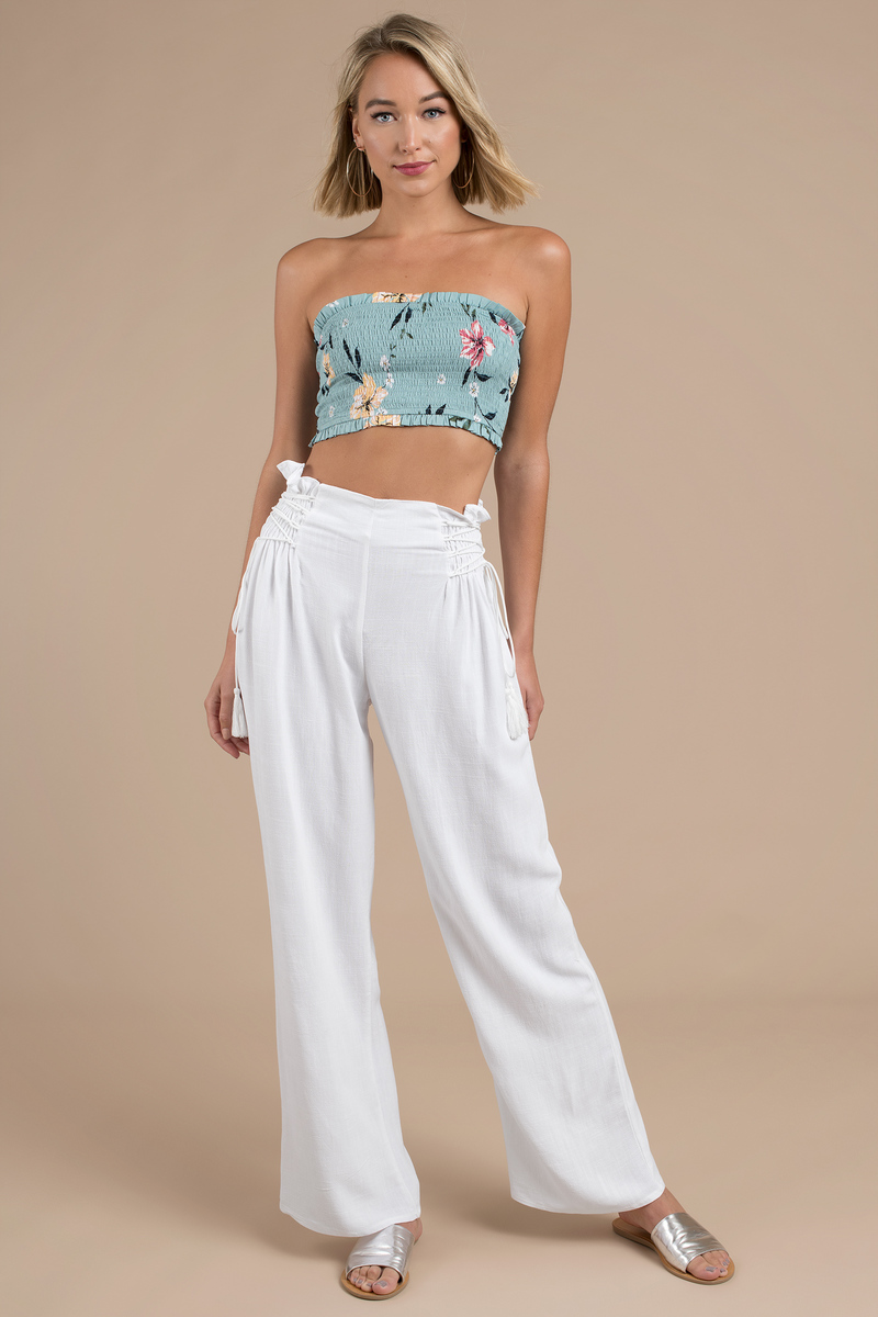 e10a0cd8f2 White Pants - Flowy Pants - White Wide Leg Pants - Linen Pants - $22 ...