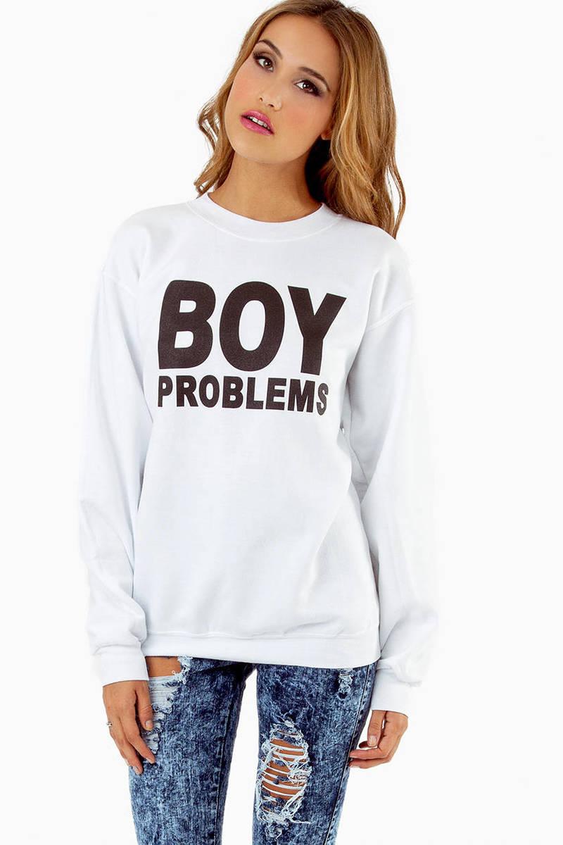 Petals & Peacocks Boy Problems Sweatshirt