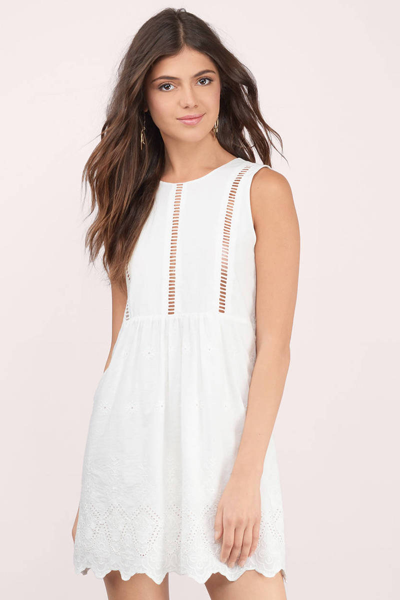 By Your Side White Shift Dress