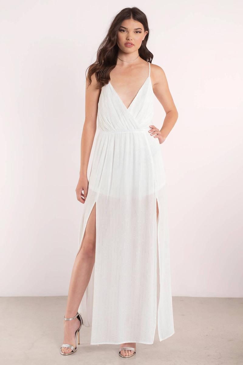 California Sunset White Maxi Dress