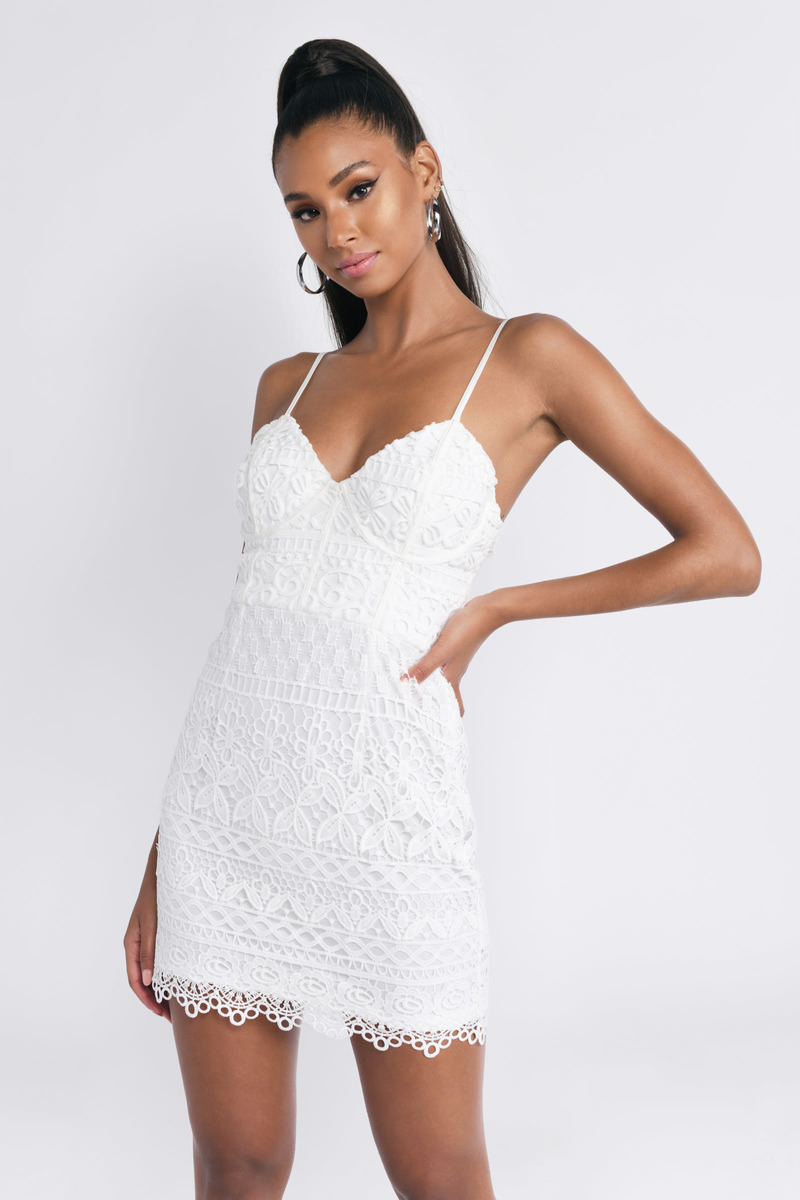 b1144594e78f9 Can't Hold Us White Lace Bodycon Dress - $29 | Tobi US