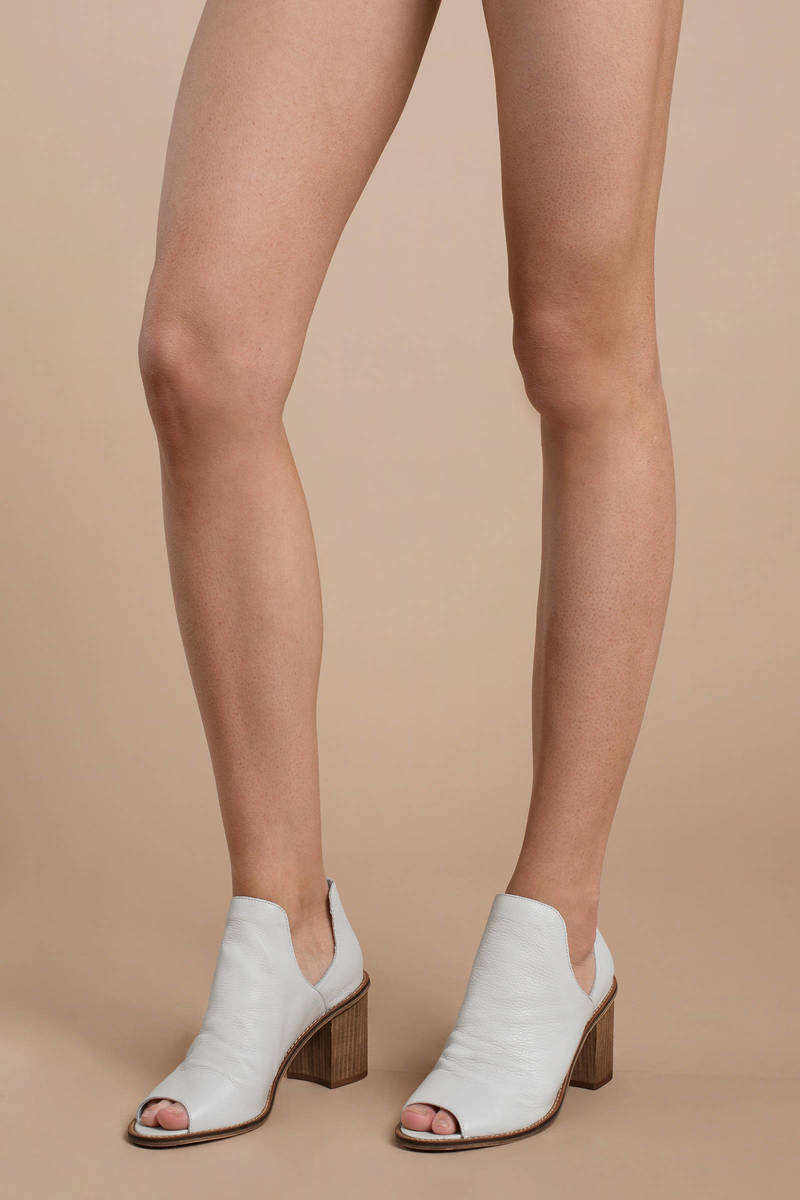 fac8c8f94 White Chinese Laundry Boots - Peep Toe Boots - White Cut Out Boots ...