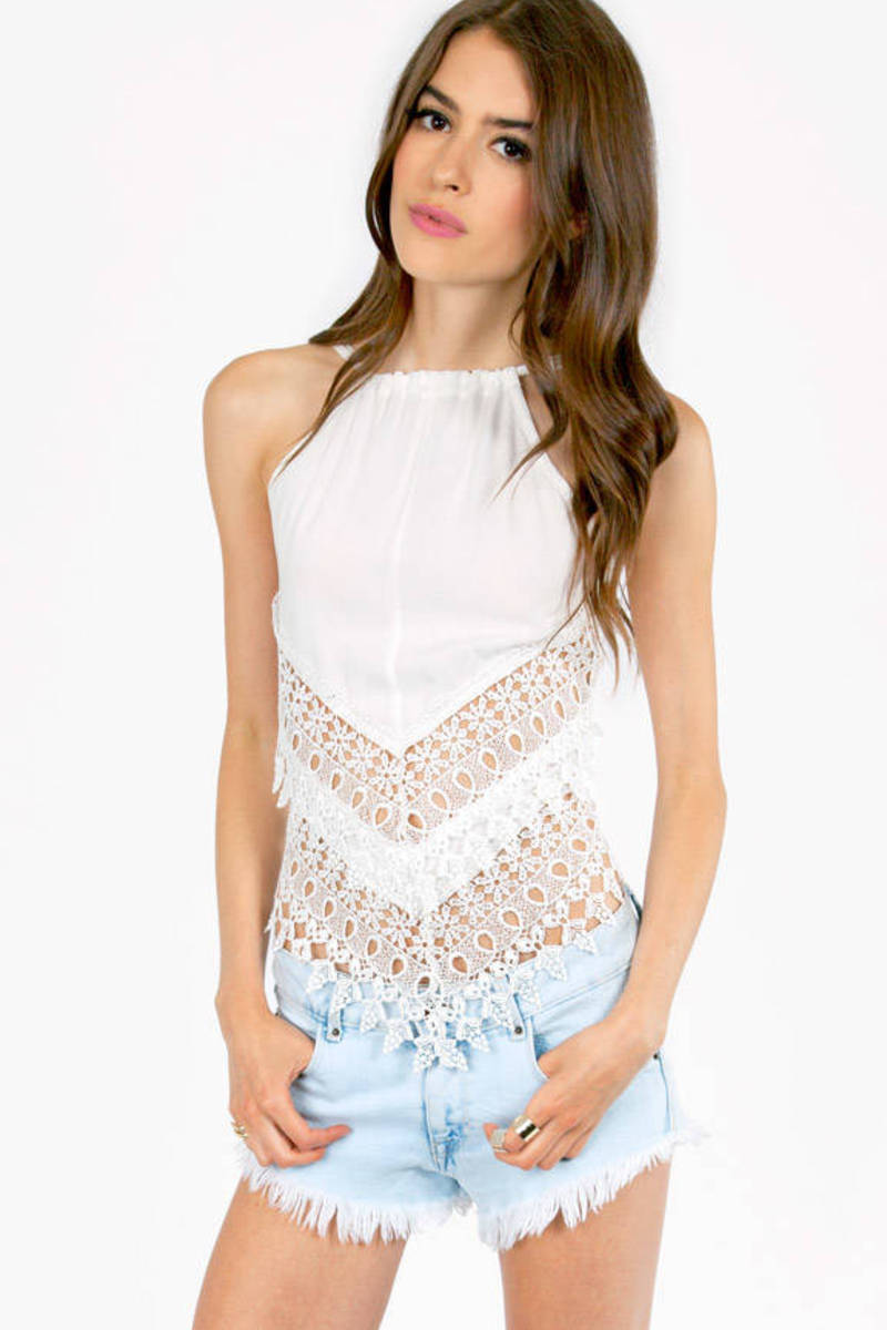 Cast Down Crochet Halter Top