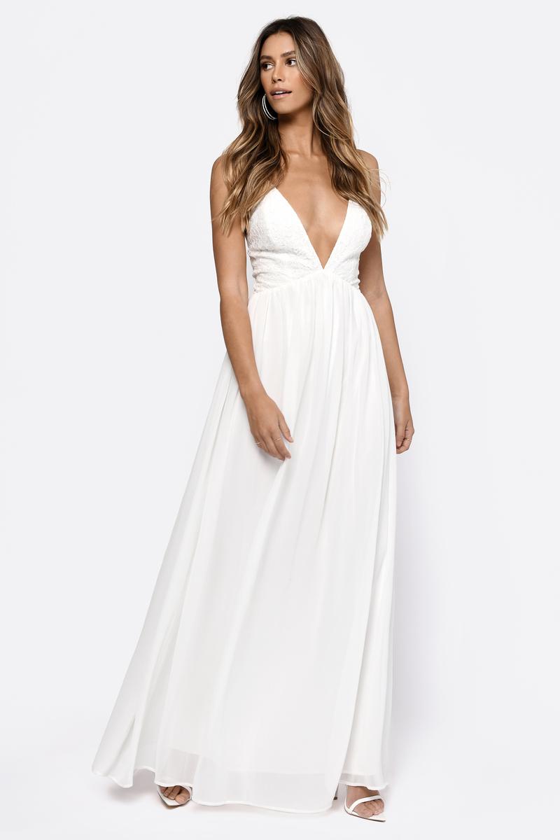 White Maxi Dress - Lace Formal Dress - Elegant White Maxi Dress ... 3ba6f67ab