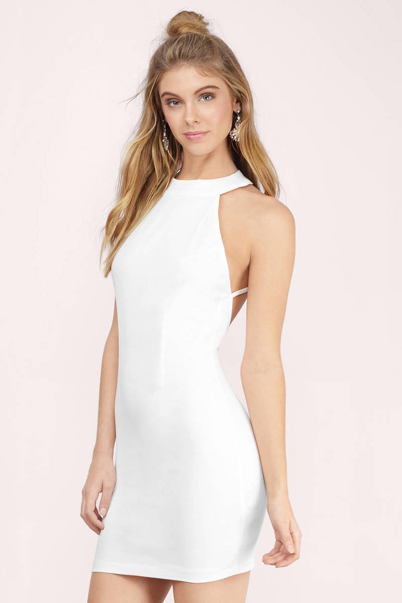 Concrete Jungle White Bodycon Dress