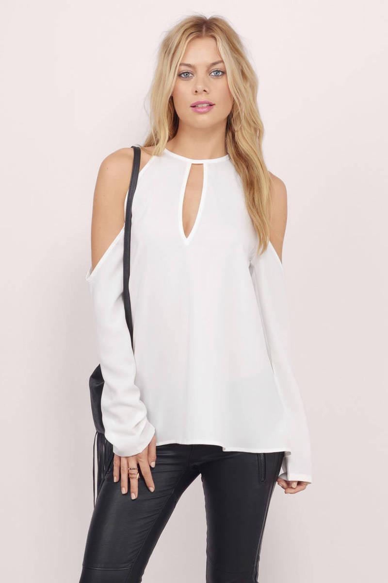 corinna cold shoulder blouse tobi. Black Bedroom Furniture Sets. Home Design Ideas