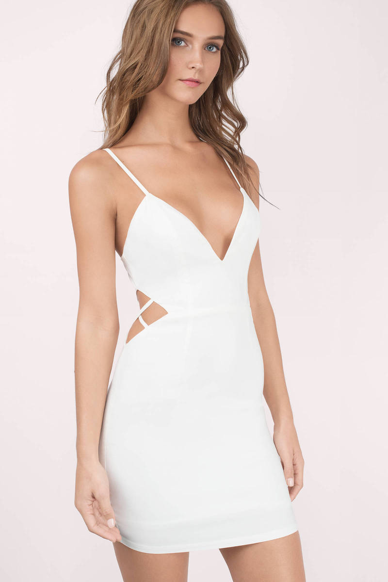 Sexy white bodycon dress