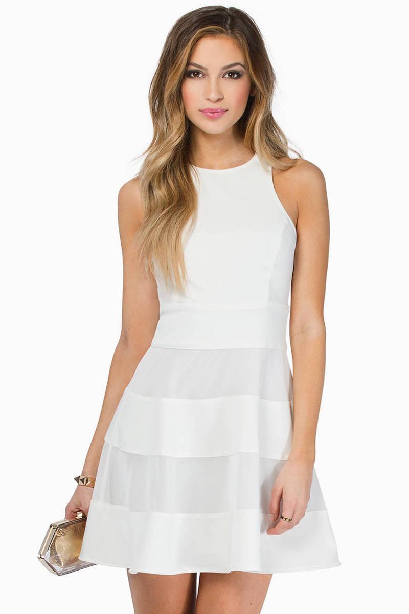 Double Stripes Skater Dress