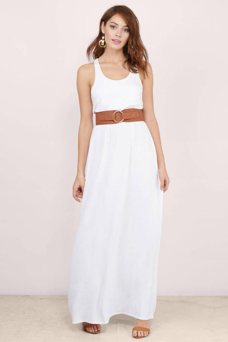 Driving White Maxi Dress