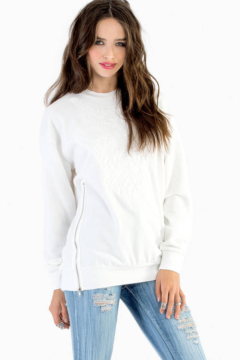 Eliza Embossed Brocade Sweater
