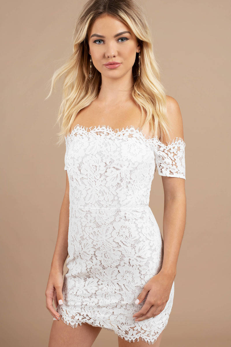 Emma White Lace Bodycon Dress 26 Tobi Us