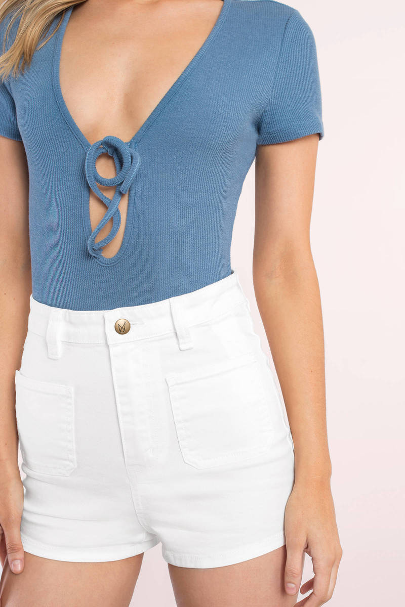 MINKPINK Minkpink Escape White Sailor Shorts