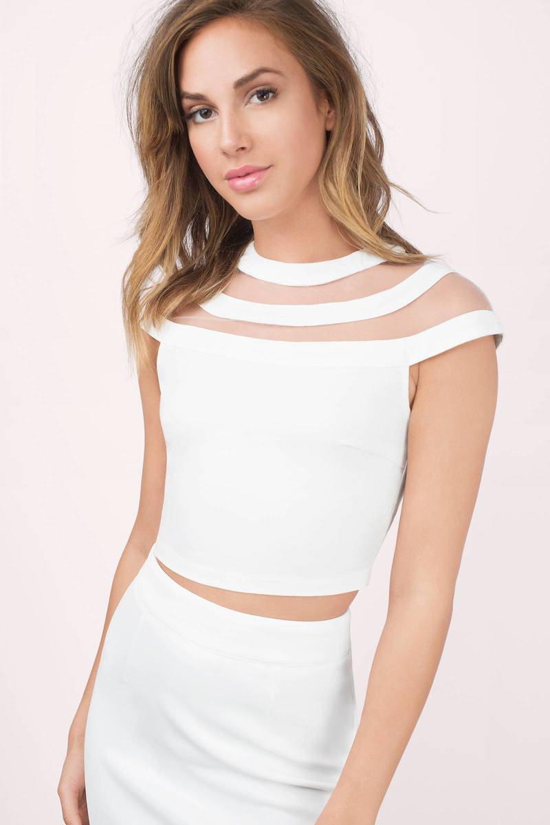 9f113ae9247 Sexy White Crop Top - White Top - Off Shoulder Top - White Crop Top ...