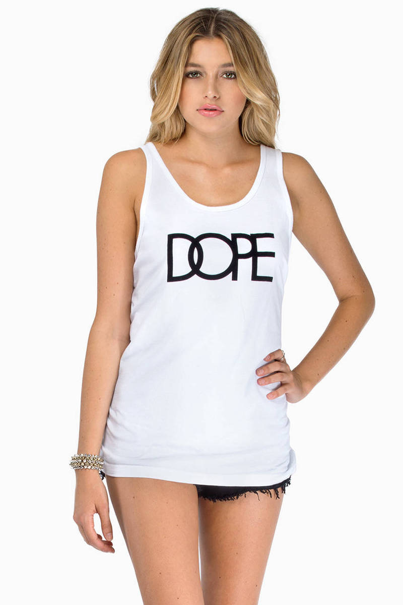 DOPE Flocked Logo Tank