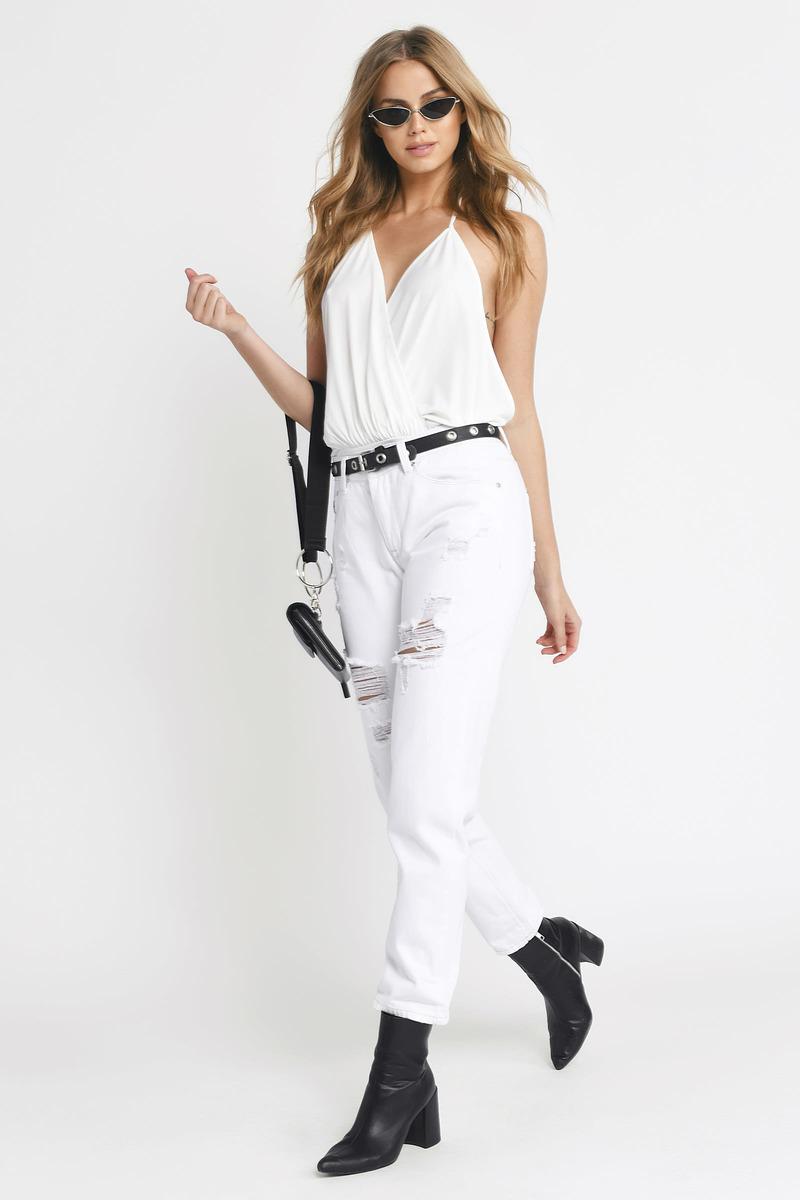White Bodysuit - Halter Bodysuit - White Backless Bodysuit -  31 ... ca019460b