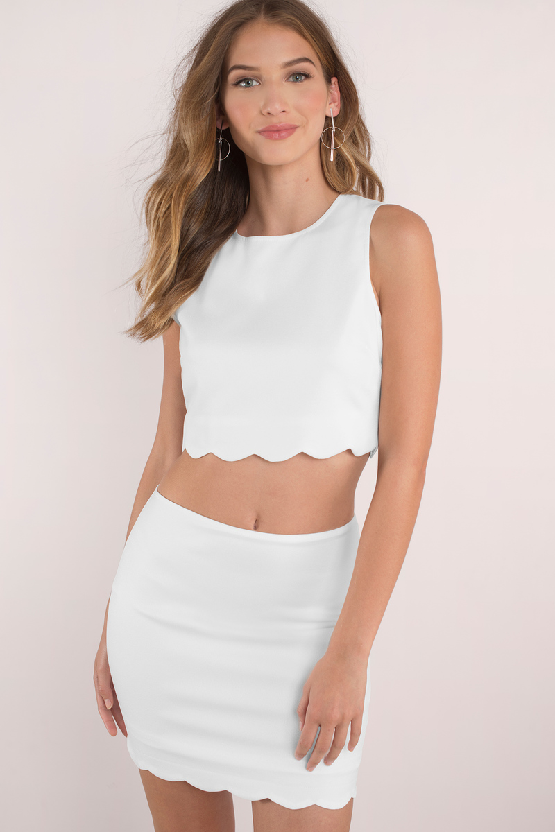 Getting Wavy White Bodycon Set