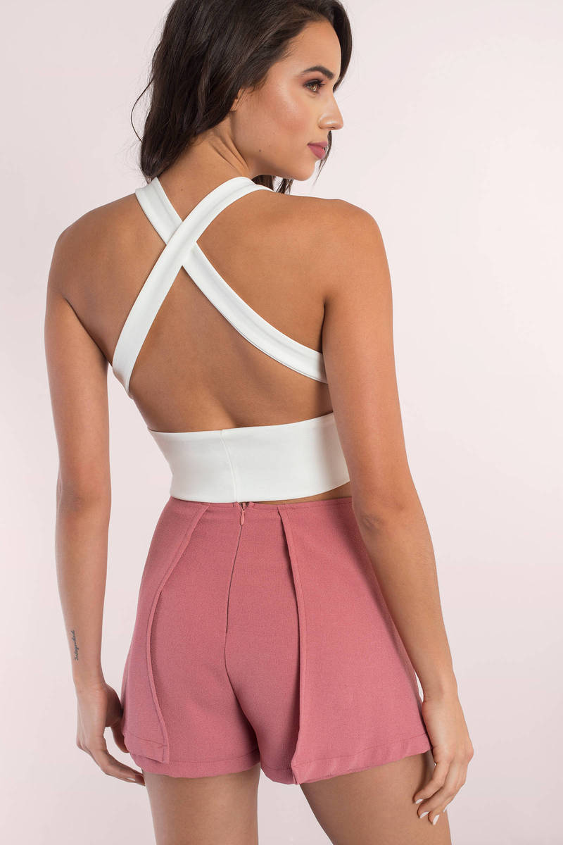 91dcaaa692 Cute White Crop Top - Open Back Top - White Top - White Crop Top ...
