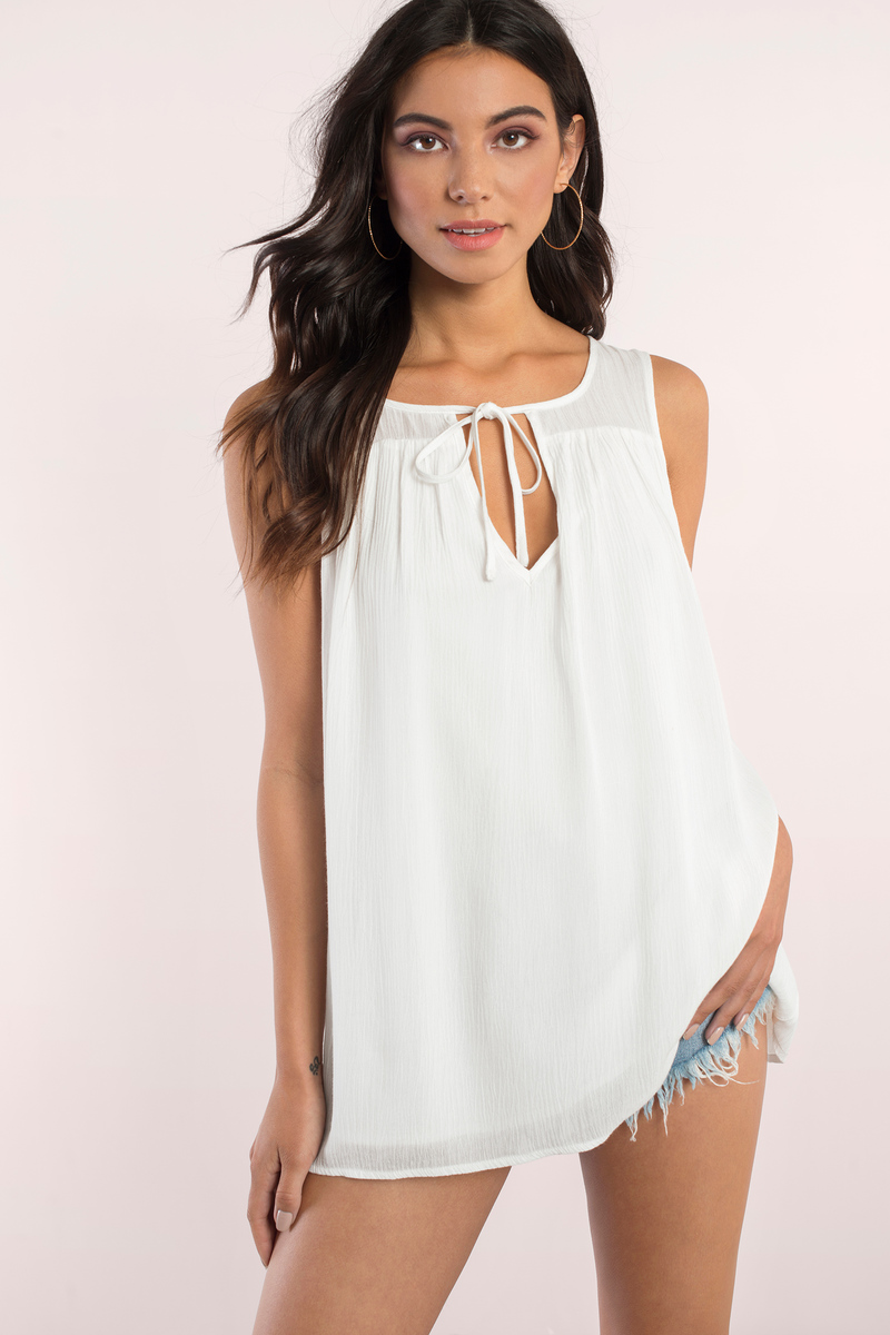 Good Afternoon White Tunic Top