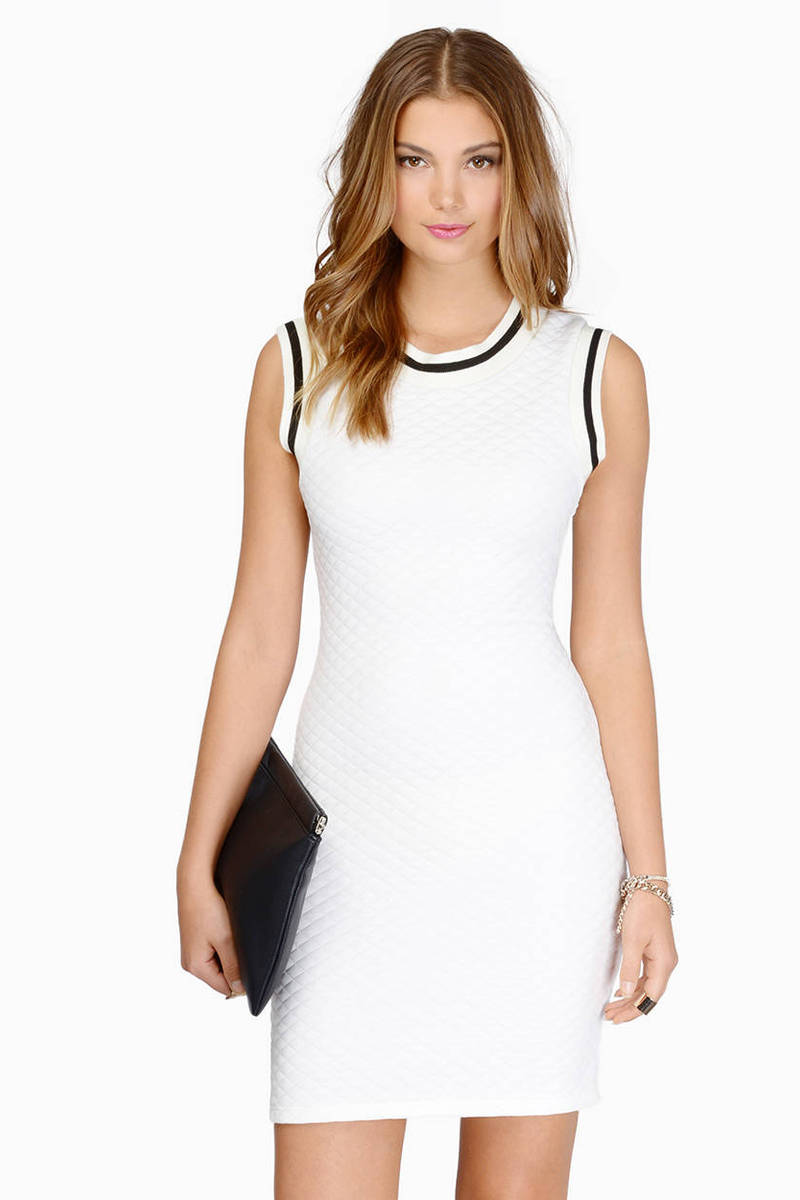 White Quilted Dress