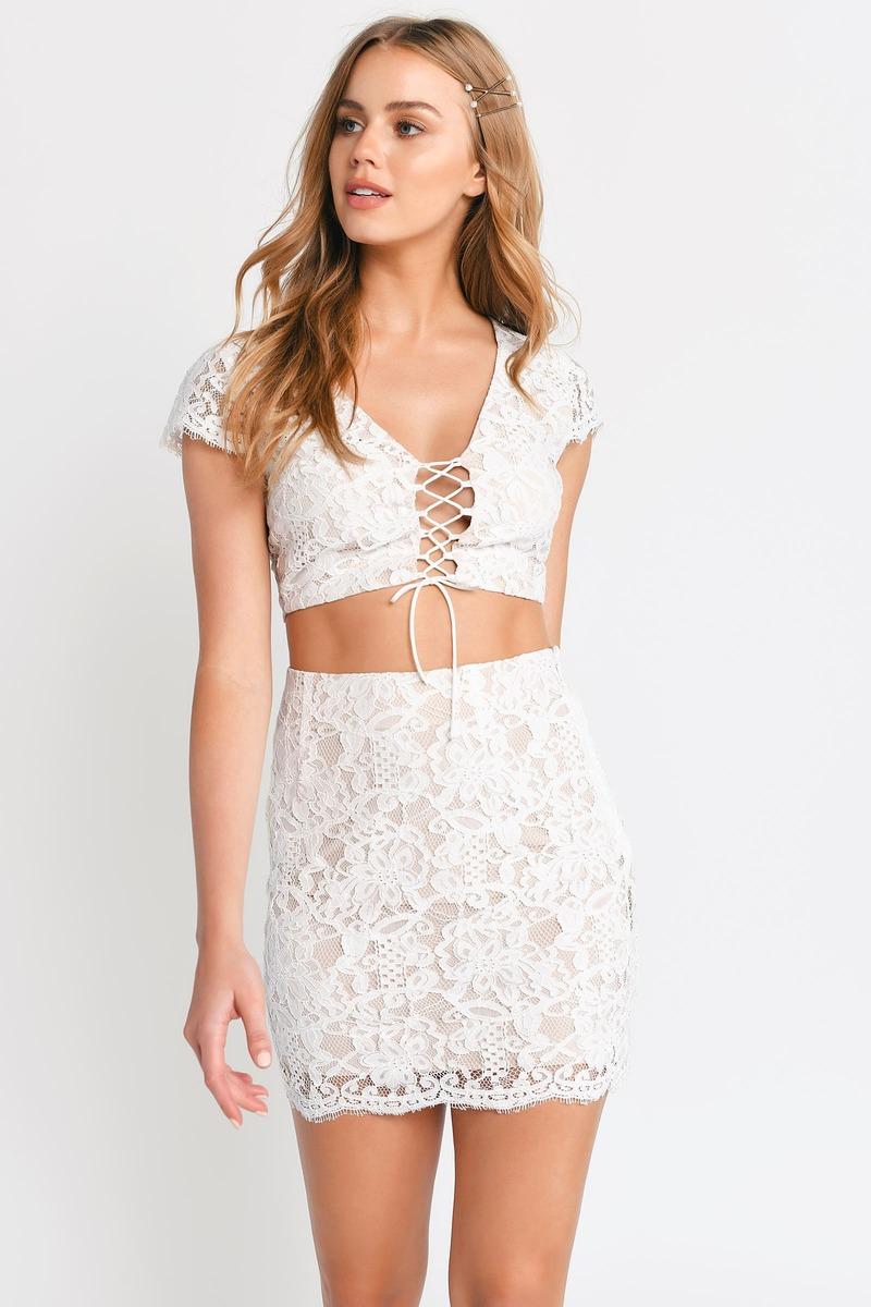 White Skirt Party Skirt White Lace Skirt Eyelash Lace 29 Tobi Us