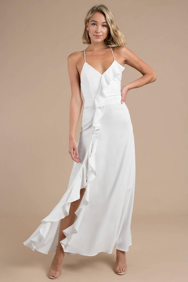 White Maxi Dress - Wedding Dress - White Ruffle Maxi Dress - $128 ...