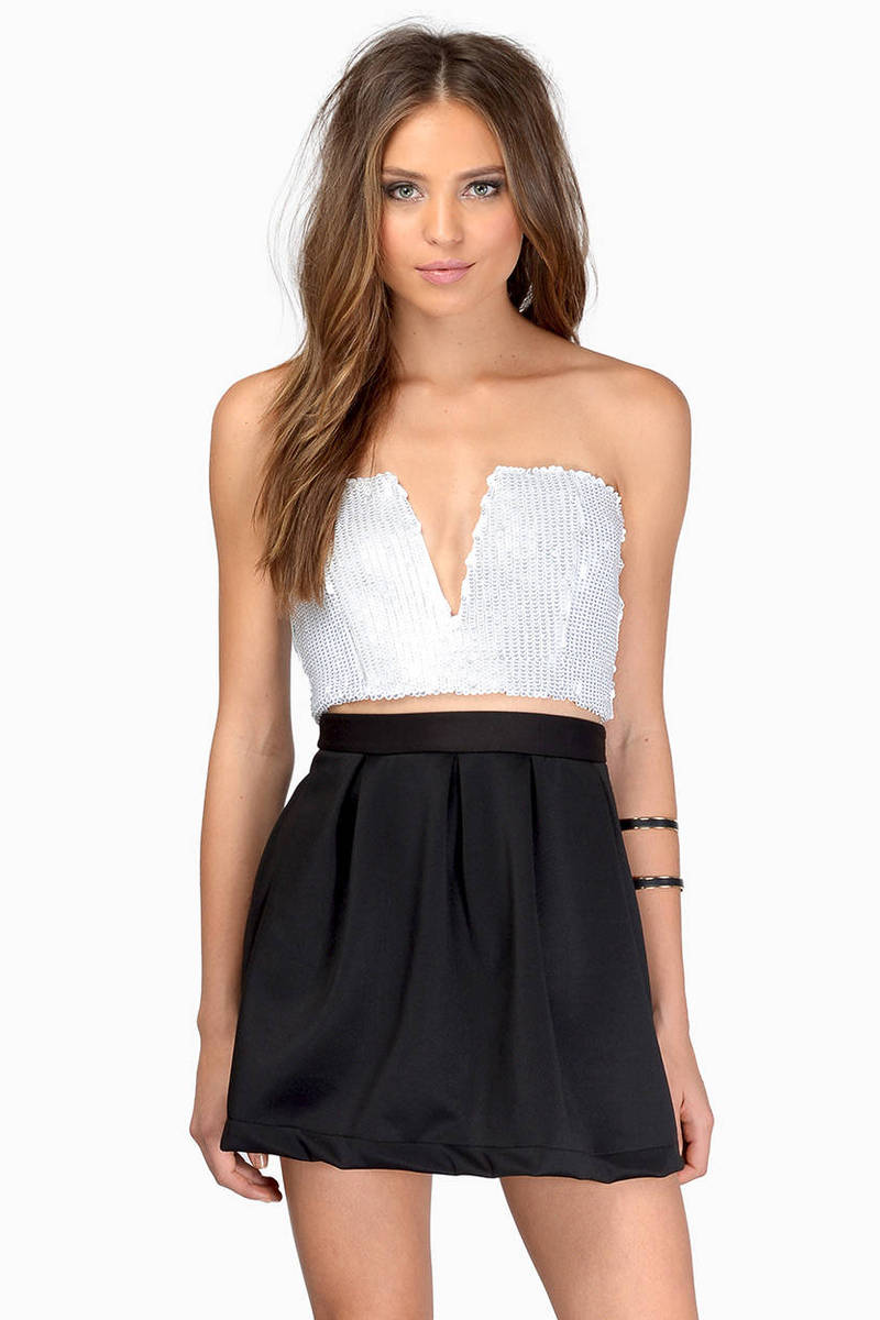 Rehab Clothing Rehab Clothing In A Flash White Sequin Bustier