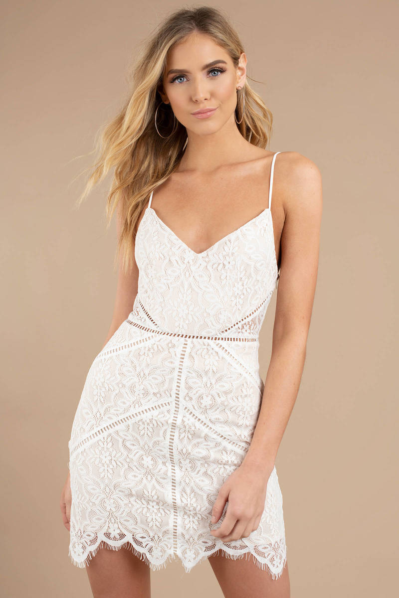 087ec94716d43 In The Night White Lace Bodycon Dress - $98 | Tobi US