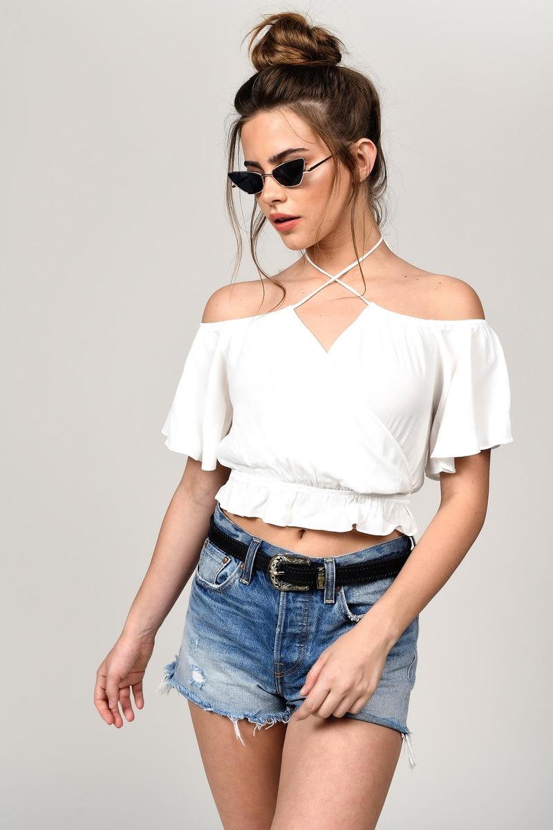 7555094dc Cute White Blouse - Cold Shoulder Top - White Boho Top - $17 | Tobi US