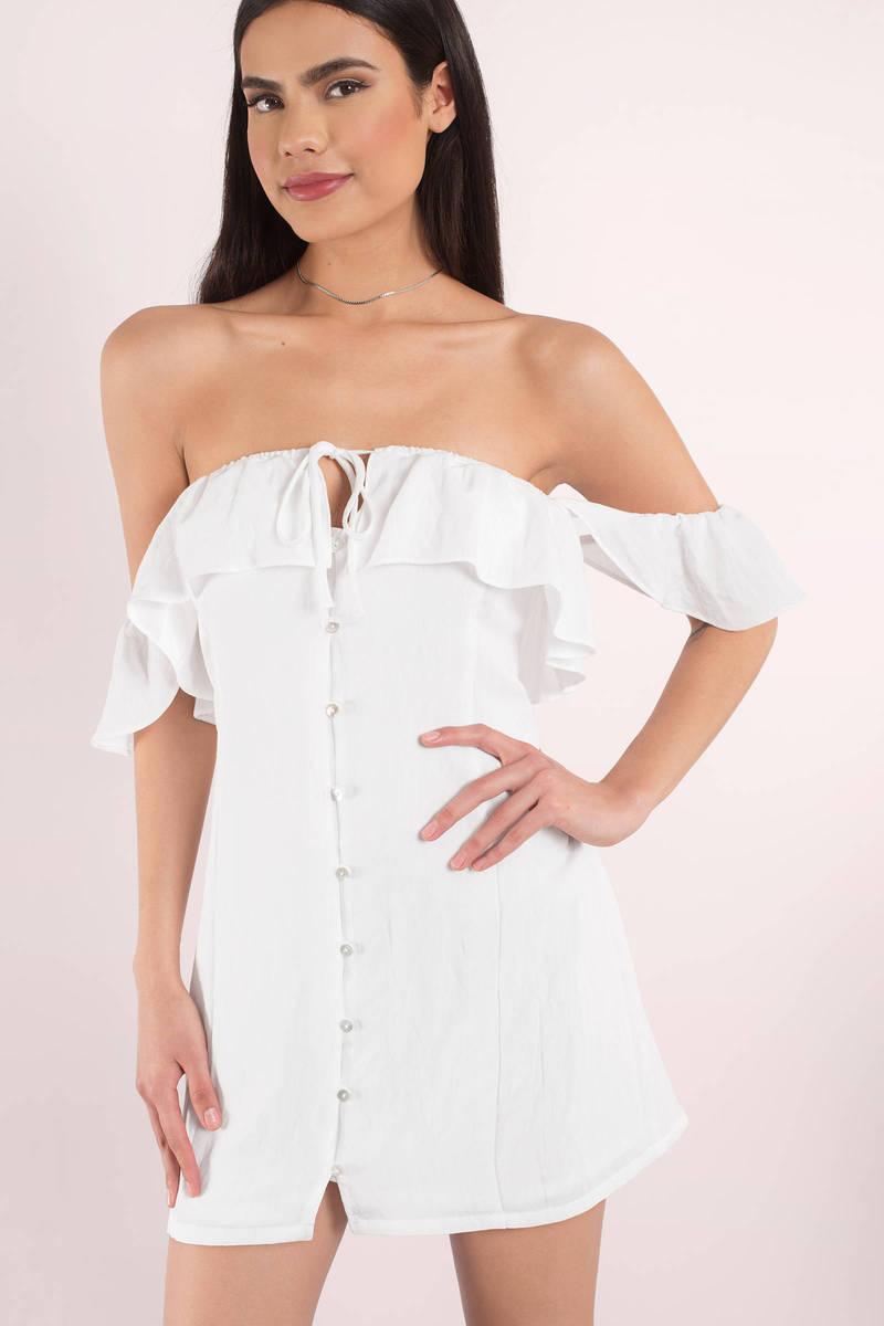 Kacee White Shift Dress
