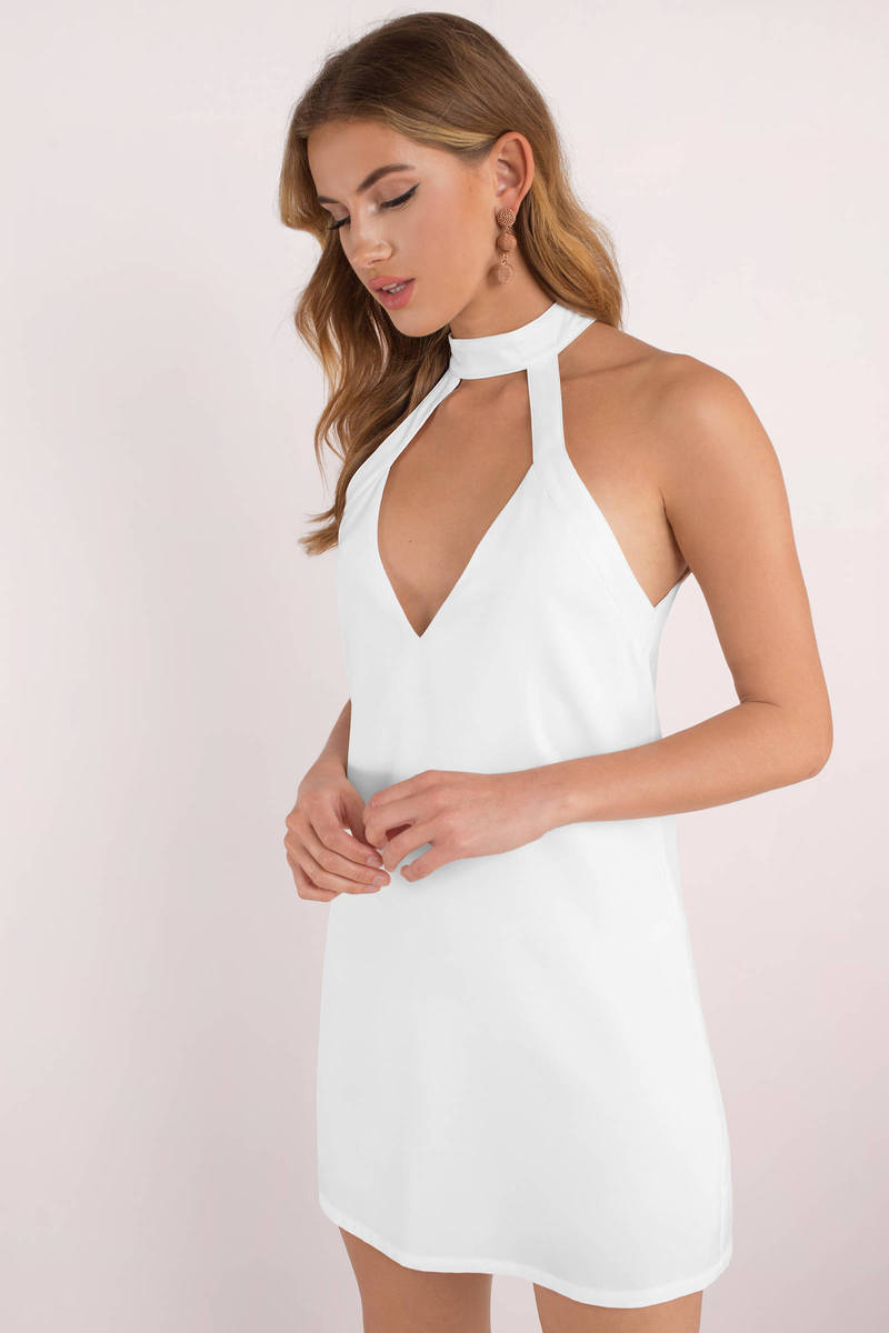a3b57d3f935 Cute White Dress - Cut Out Dress - Pretty White Dress - Shift Dress ...