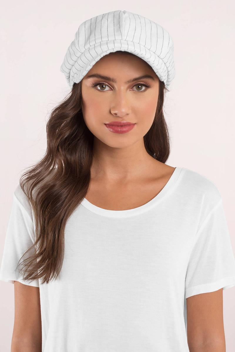 Kelly White Striped Cadet Hat