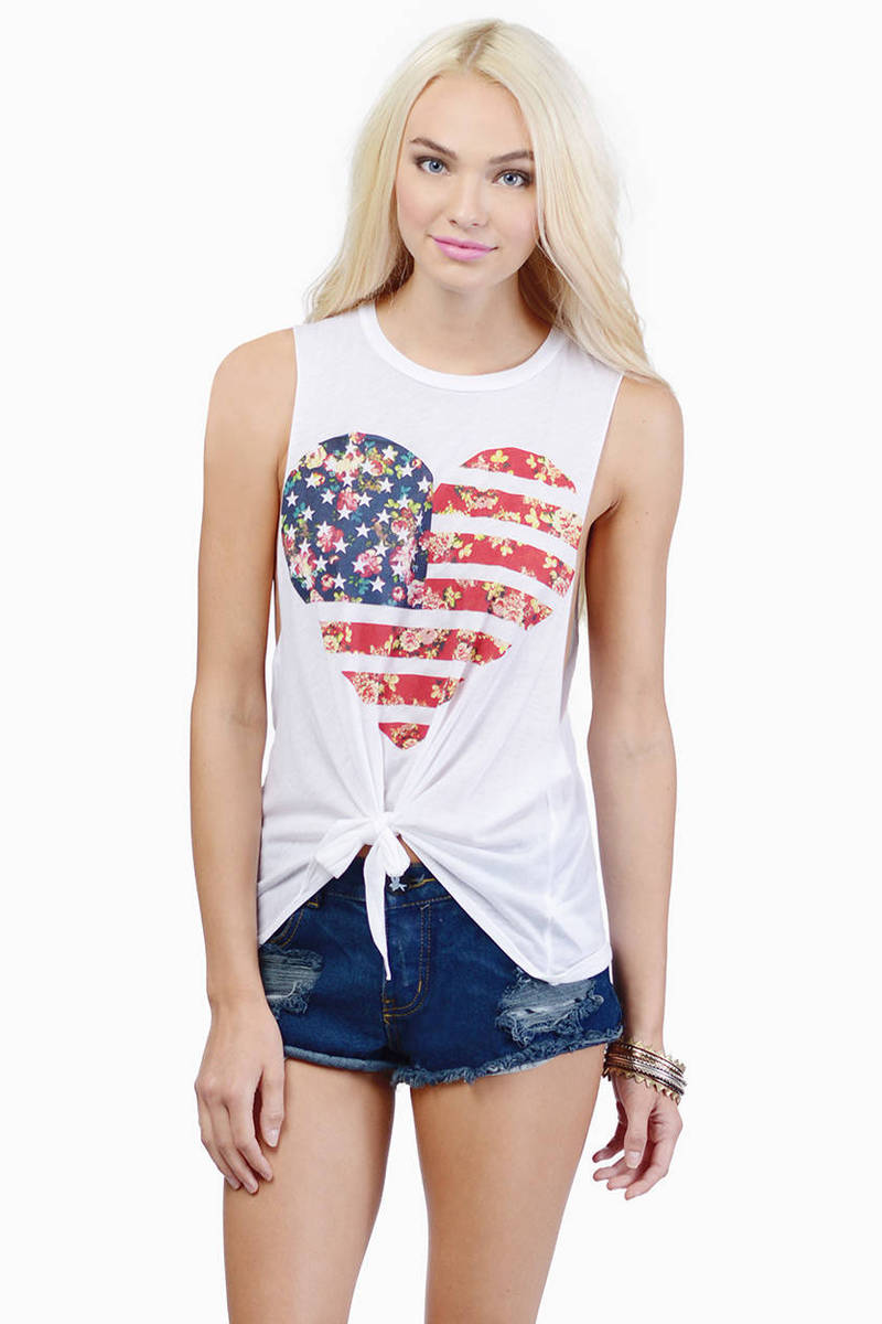 Knot In America Tank