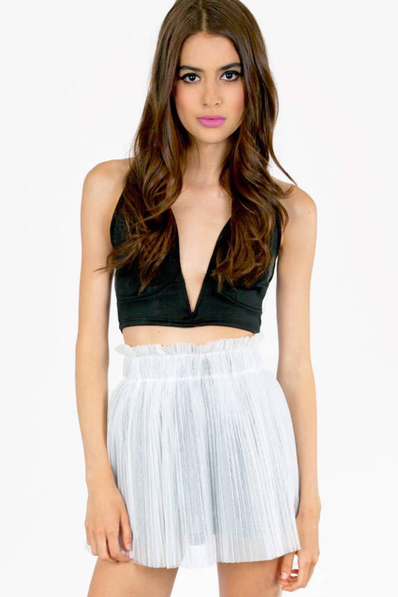 Legally Pleated Tulle Skirt