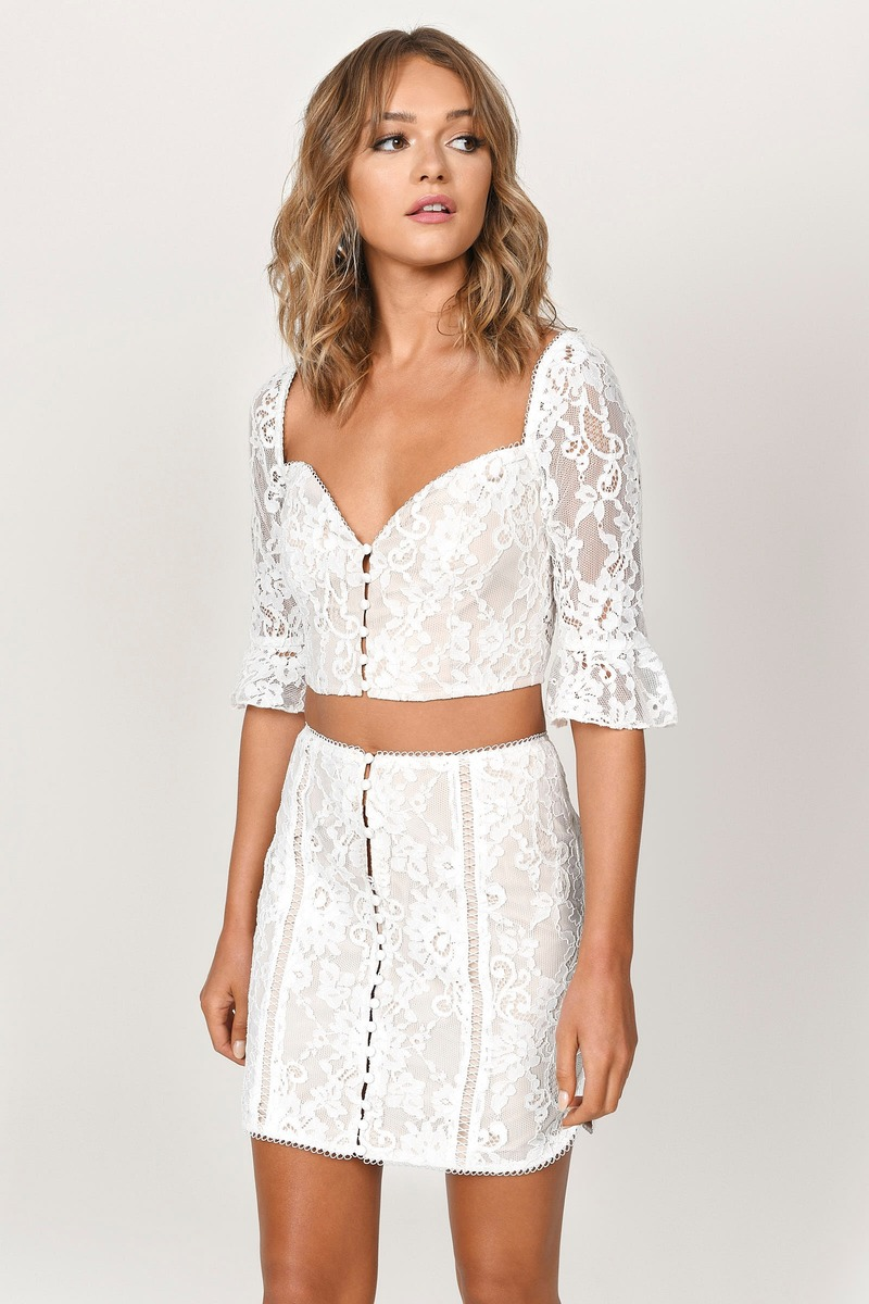 75a4bbf22 Lexy White Lace Mini Skirt - $17 | Tobi US