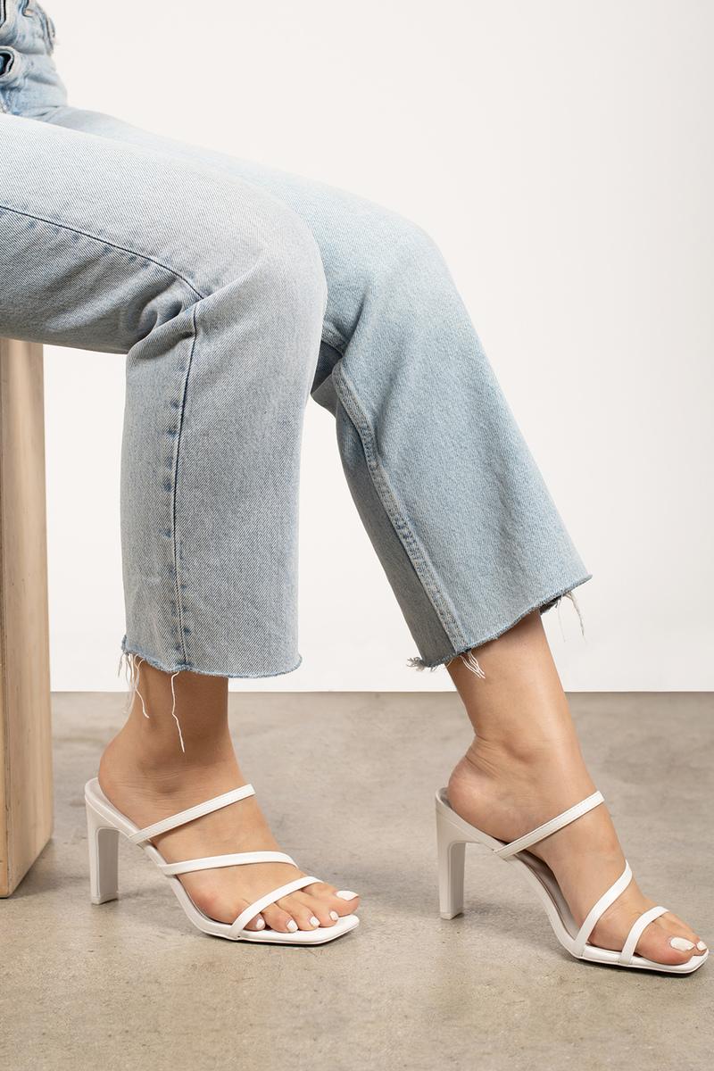 White Strappy Sandal Heels
