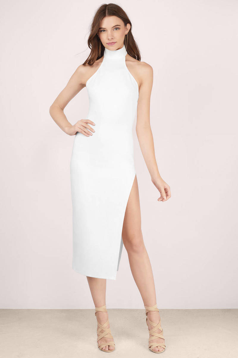 Mirror Mirror White  Midi Dress