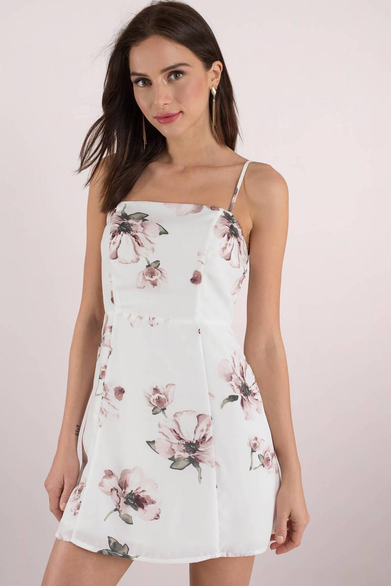2aa1435ada2f Floral Skater Dress - Cami Dress - Floral Print Dress - Mini Dress ...