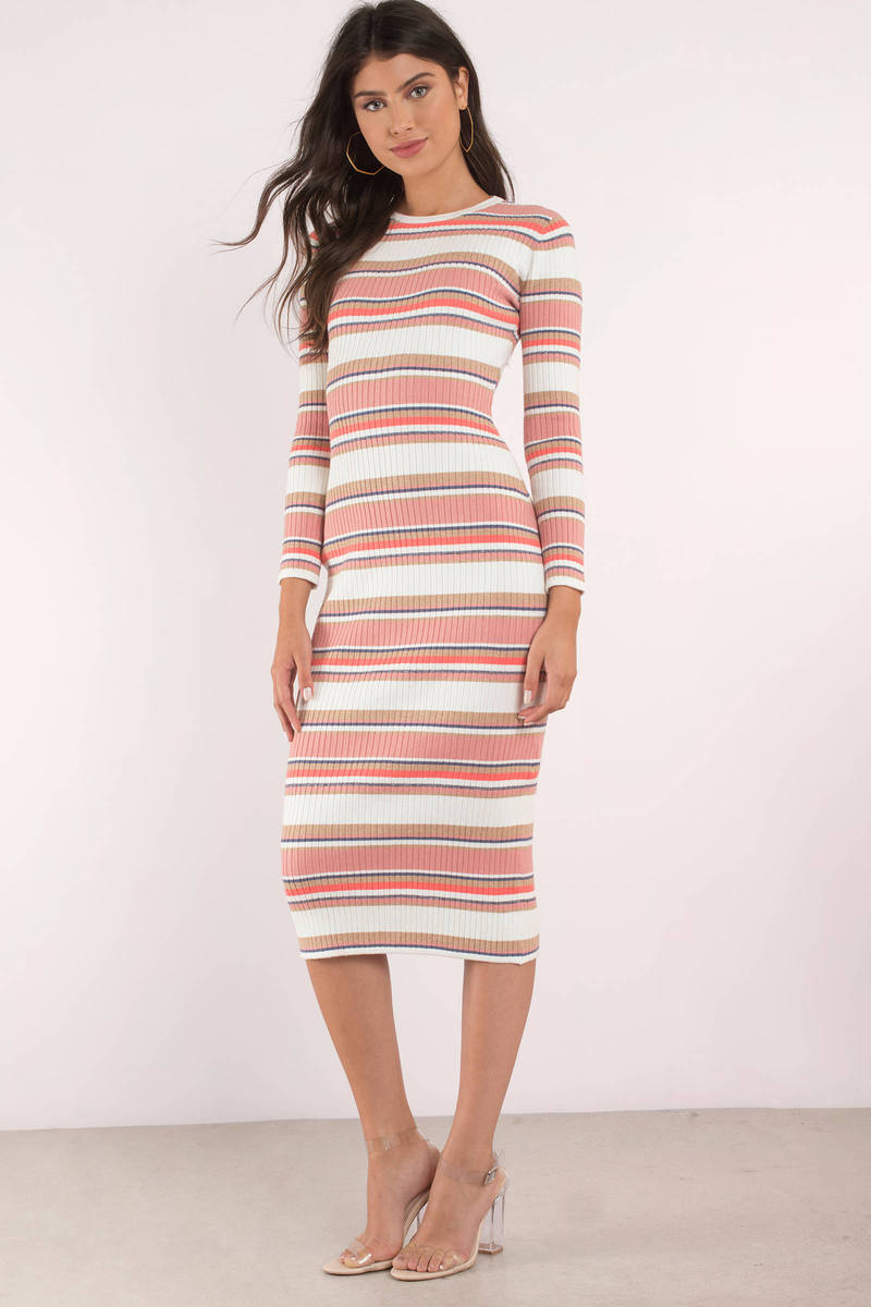 The Jetset Diaries The Jetset Diaries Levi White Multi Striped Midi Dress