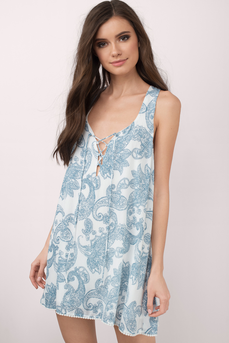 Rosa White Multi Paisley Shift Dress