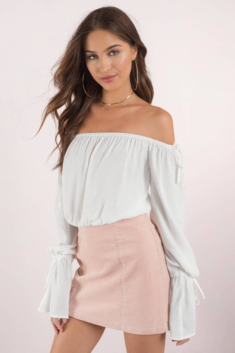 Naomi White Off Shoulder Blouse