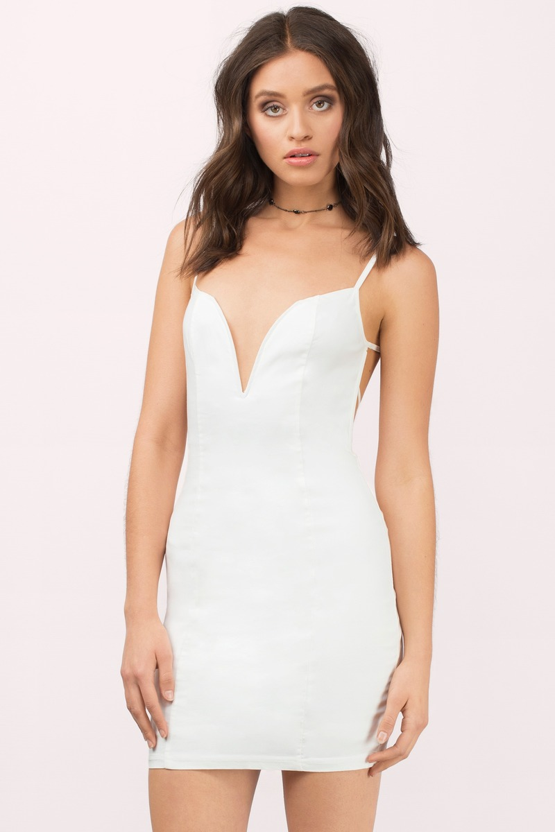 26cb8e419960 White Dress - Strappy Dress - White Sleeveless Dress - Bodycon Dress ...