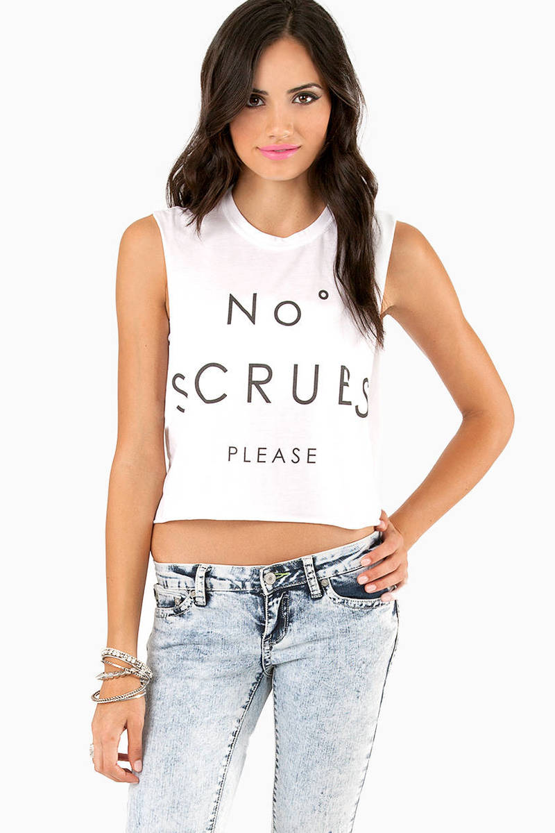 The Laundry Room No Scrubs Crop Muscle Tank Top