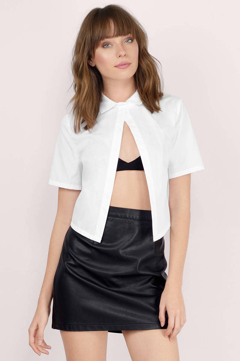 Once More White Crop Top