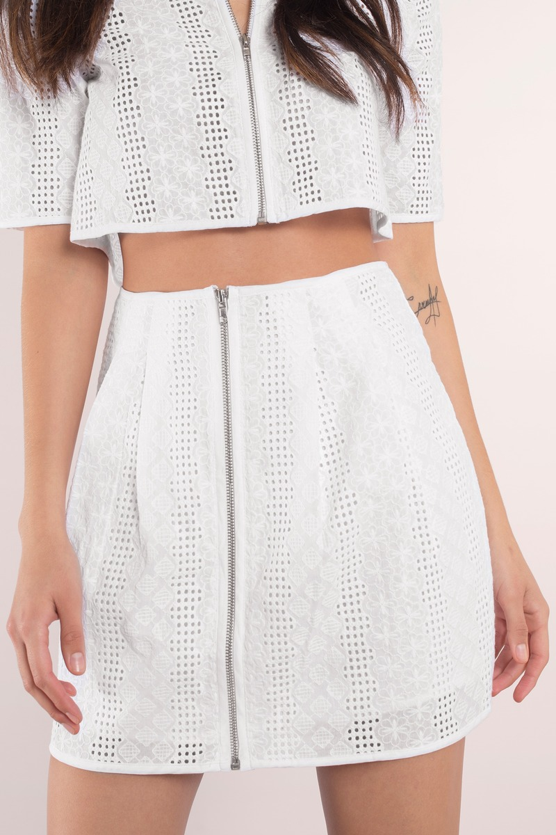 Out Of Sight White Mini Skirt