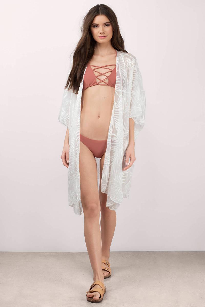 Palm Springs White Kimono